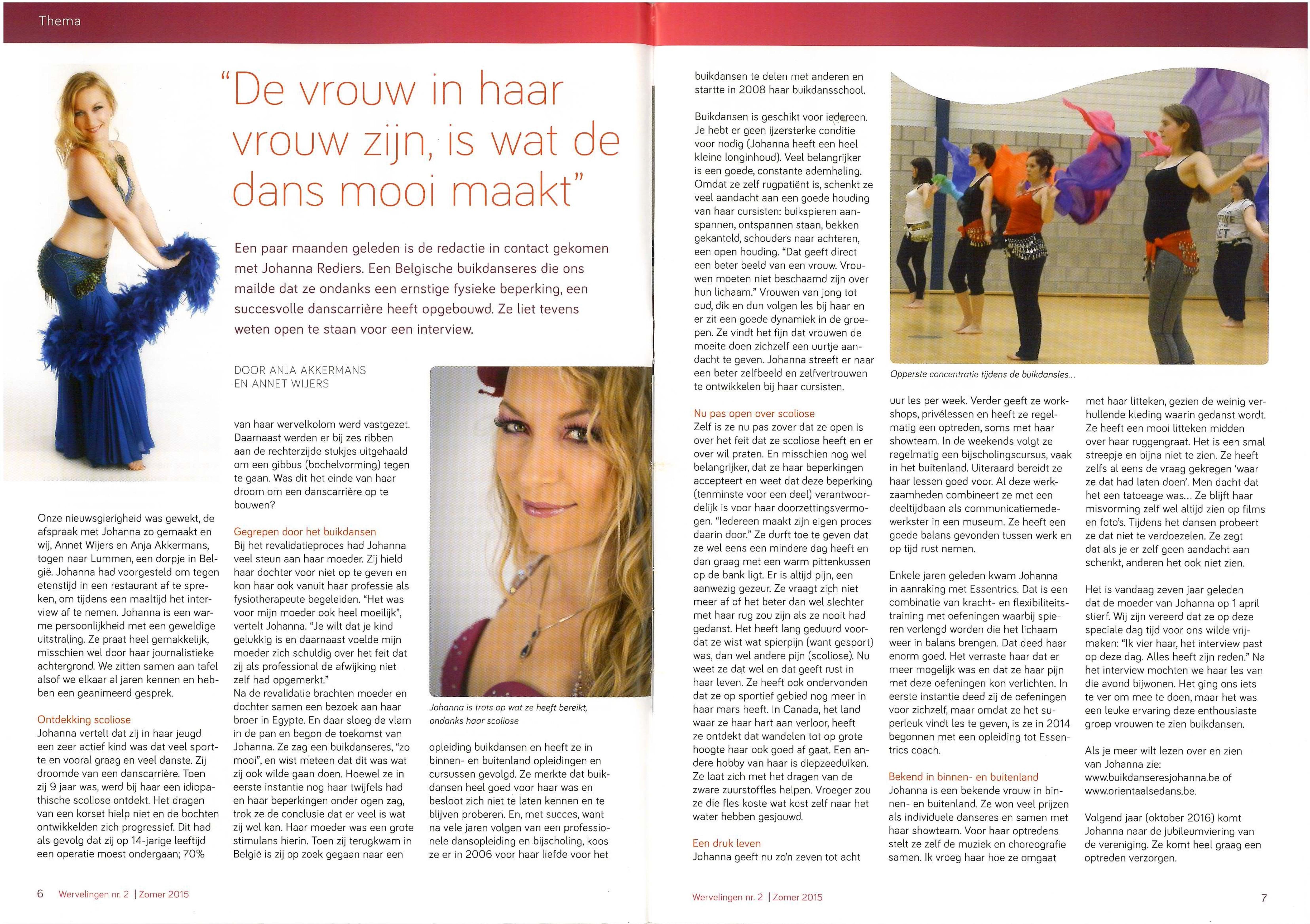 Artikel in Wervelingen - ledenblad voor scoliosepatiënten (1)